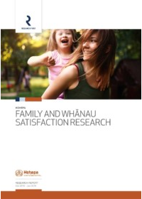 Hohepa Family and Whānau Satisfaction Research - Report 2019